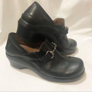 Ariat Del Mar Black Leather Horsebit Clog Size 6.5